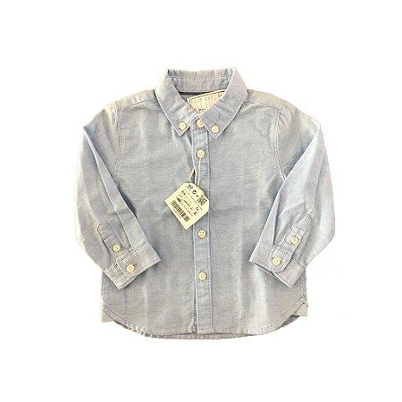Camisa Azul com Etiqueta Zara Baby Boy