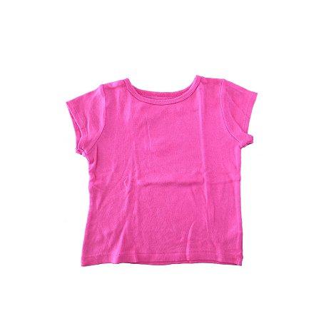Camiseta Carter's Infantil Lisa Rosa
