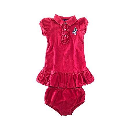 Vestido Polo Vermelho com Calcinha Ralph Lauren