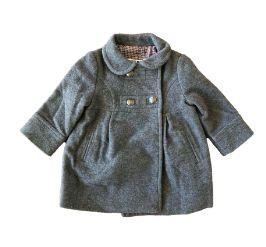Sobretudo de Lã Cinza (Faltando um botão) Zara Baby