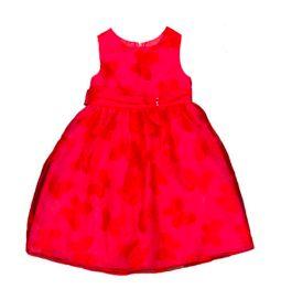 Vestido Festa Coral com Borboletas Rare Editions