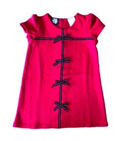 Vestido Vermelho com Laços Pretos So La Vita