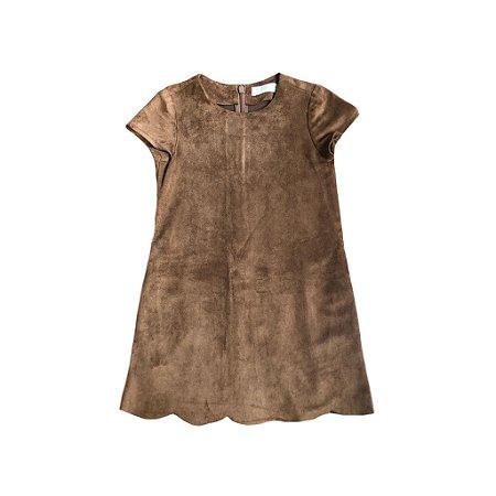 Vestido Camurça Marrom Zara Girls nunca usado