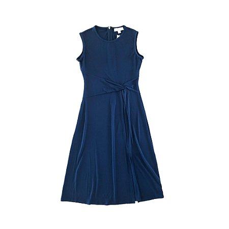 Vestido Midi Azul Marinho Michael Kors