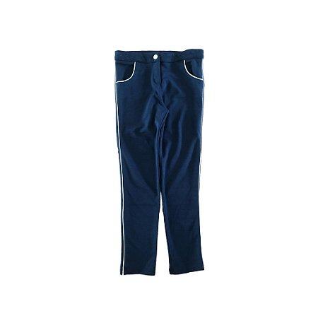 Legging Azul Marinho com friso Dourado Chicco