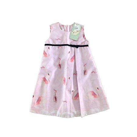 Vestido Rosa Cisne com etiqueta Via Flora