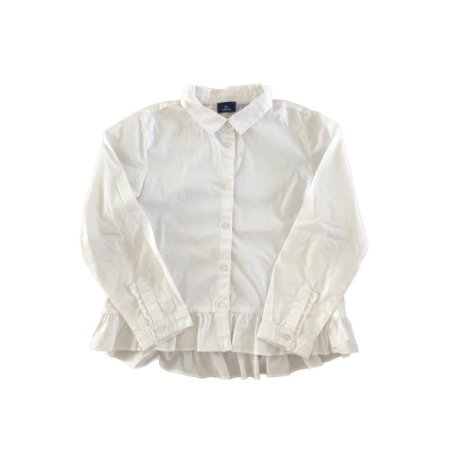 Camisa Branca com Babado na Cintura Chicco