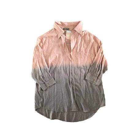 Camisa Rosa e Cinza Degrade Vera Motta