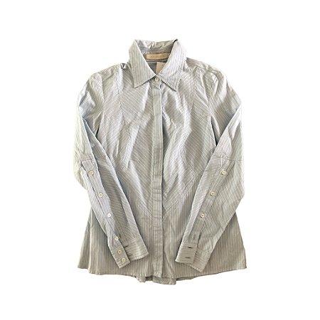 Camisa Listrada em Azul Cris Barros