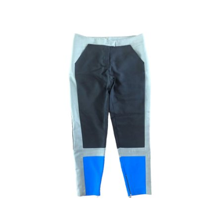 Calça Cinza, Preta e Azul Cori