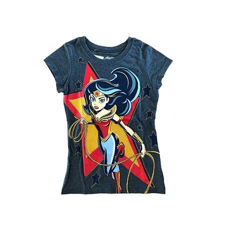 Blusa Mulher Maravilha Super Hero