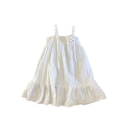 Vestido Branco com Lantejoulas Zara Kids