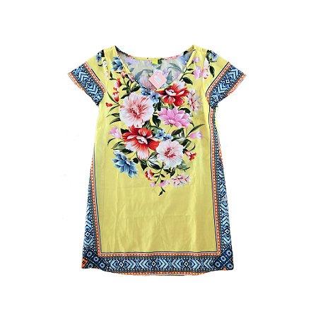 Vestido Farm Feminino Amarelo Florido