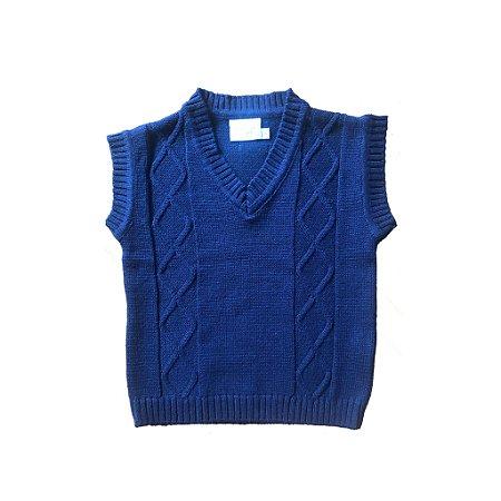 Pulover Azul Marinho Tricot Noruega Baby