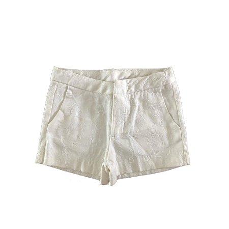 Shorts Branco com Arabescos Zara Kids