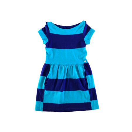 Vestido Listras Roxo e Azul Le Lis Petit