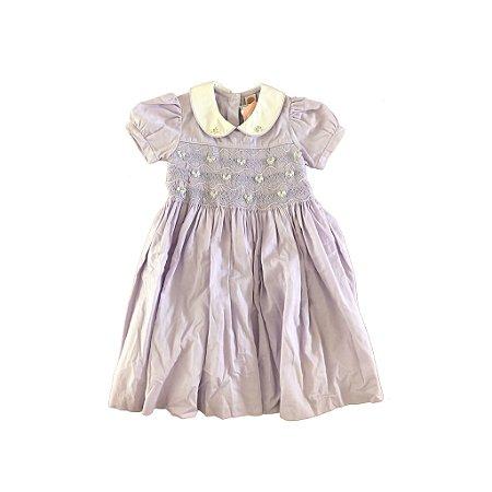 Vestido Lilas Casa de Abelha Ateliê Infantil