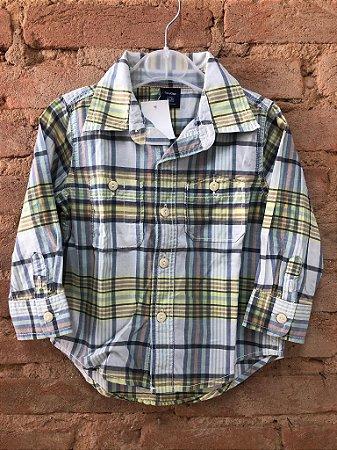 Camisa Xadrez Baby Gap