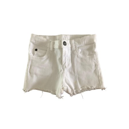 Shorts Carter's Infantil Jeans Branco - pequena mancha