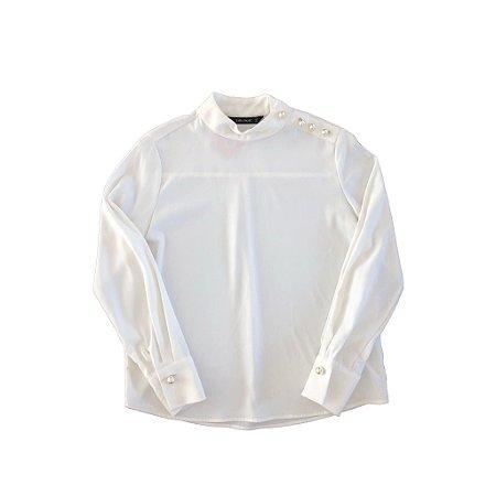 Camisa Pérolas na Gola Zara