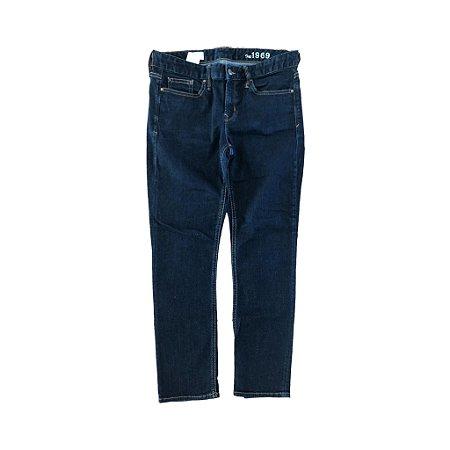 Calça Jeans Escura Reta Gap