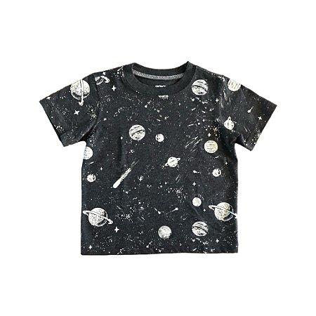 Camiseta Carter's Infantil Cinza Universo