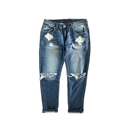 Calça Jeans Renda no Bolso Le Lis Blanc
