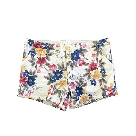 Shorts Milon Branco Florido