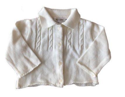 Malha de Tricot Trousseau Infantil Branca