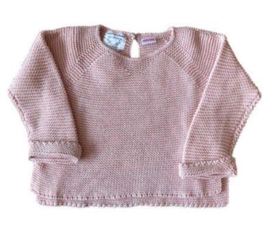 Malha Zara Infantil Rosa em Tricô
