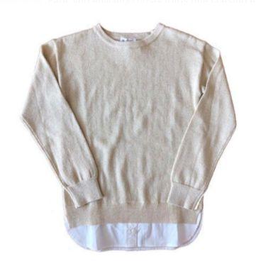Malha CHICCO Infantil de Lurex Dourada com Camisa Falsa
