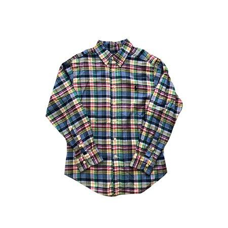 Camisa Ralph Lauren Xadrez Manga Longa