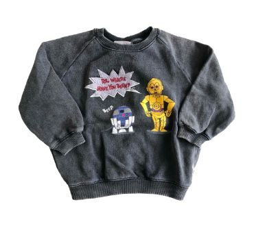 Moletom Zara Infantil Cinza Star Wars