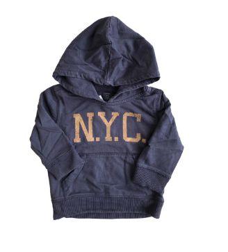 Blusa Moletom baby GAP Infantil Azul NYC