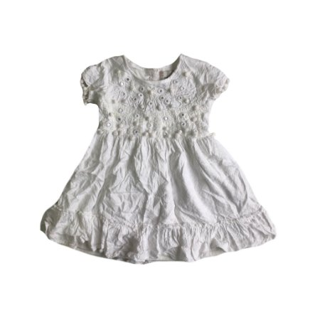 Vestido Póim Branco Bolinhas
