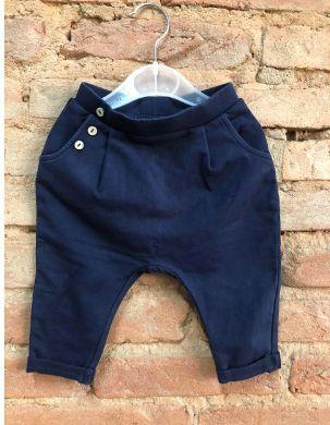 Calça Moletom Zara Infantil Azul Marinho Saruel