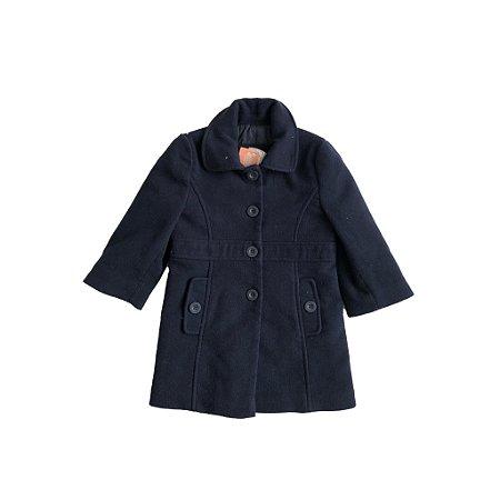 Sobretudo Cheeky Girl Infantil Lã Azul Marinho