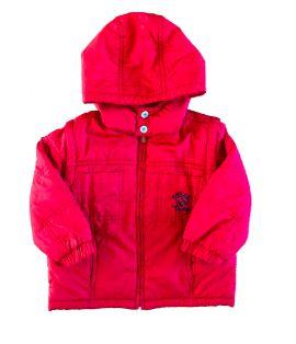 Casaco Chicco Infantil Vermelho Nylon (Vira Colete)