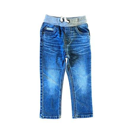 Calça Cat & Jack Infantil Jeans Claro com elástico