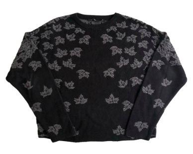 Malha de Lã Zara Feminina Preta e Cinza