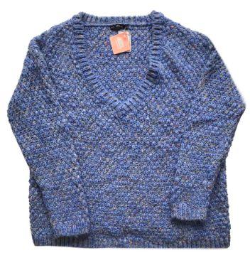 Blusão de Lã Zara Feminino Azul