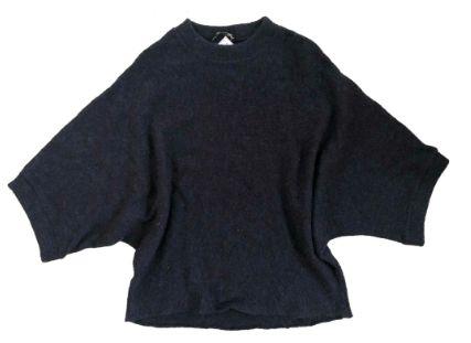 Blusão de Lã Zara Feminino Azul Marinho