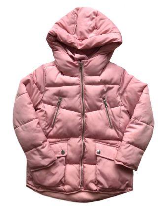Casaco Zara Infantil Rosa Nylon