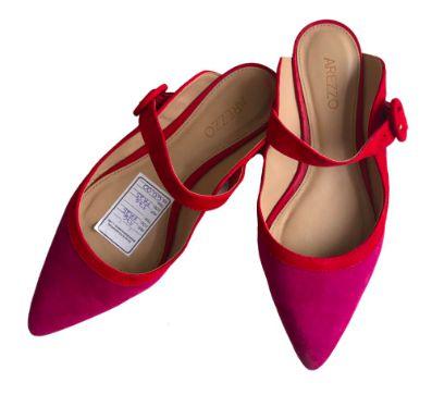 Mulê Arezzo Feminino Pink e Vermelho