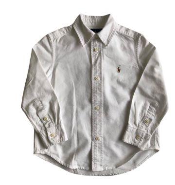 Camisa Ralph Lauren Infantil Branca
