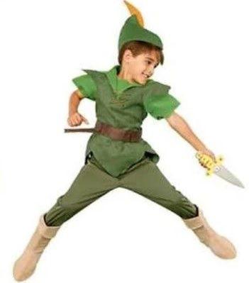 Fantasia Disney Peter Pan Disney nunca usada (Não vem com a faca)