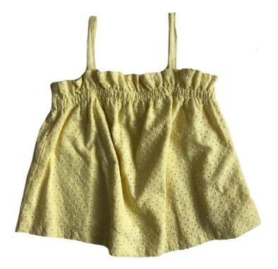 Blusa Zara Infantil Amarela em Lasie Alcinha