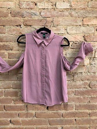 Camisa Forever 21 Feminina (Faltando 1 botão)