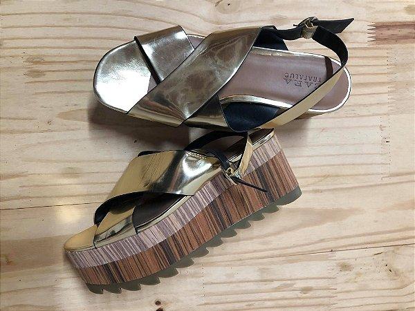 Sandália Zara Feminina Dourada
