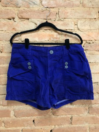 Shorts Cris Barros Feminino Azul Royal